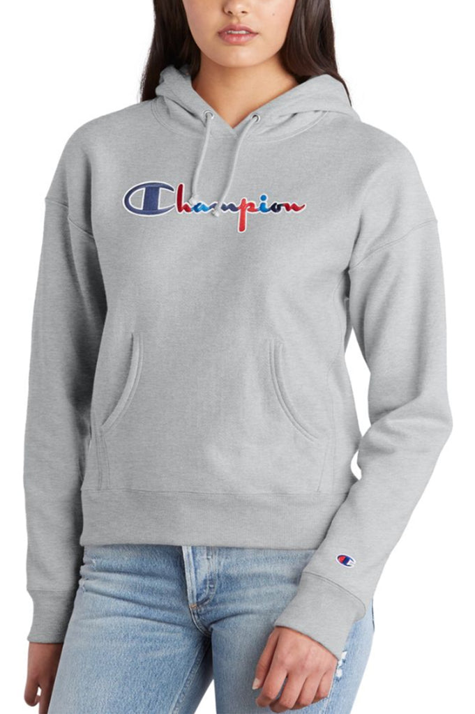 Champion  Women Reverse Weave Pullover Hood - 3 Color Script