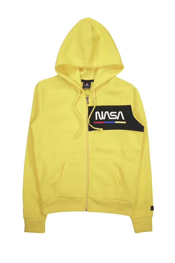 Southpole Women Nasa 3D Embo Print Zip Up Fleece Hoodie