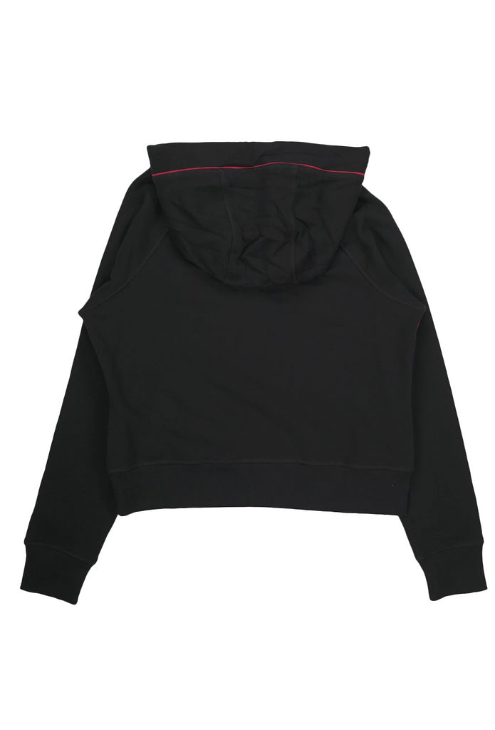 Tommy Hilfiger Activewear  Women Logo Cropped Long Sleeve Color Blocked Hoodie