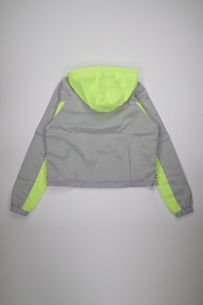 Aao Fashion Women Color Block Windbreaker