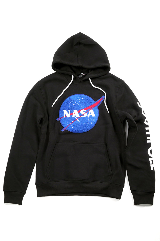 Southpole X Nasa Men Patch And Emb Pullover Hoodie