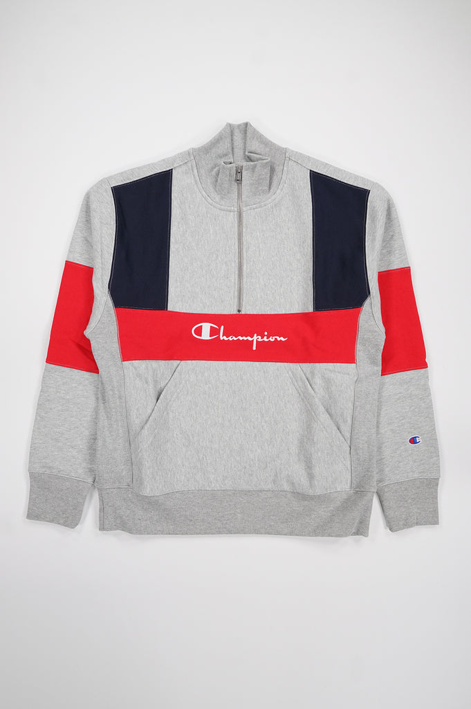 Champion Men Reverse Weave Colorblocked 1/4 Zip