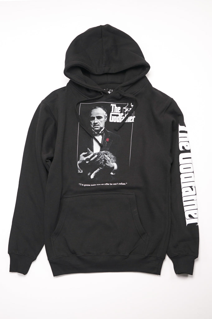 Aao Fashion Men The Godfather Graphic Pullover Hoodie