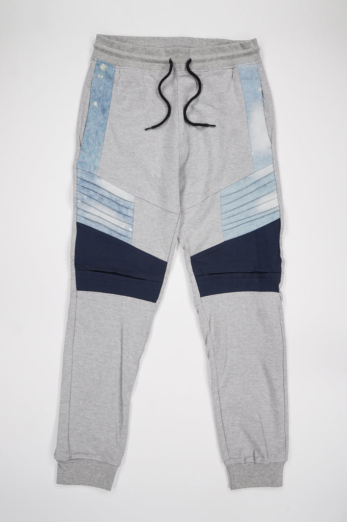 Southpole Men Denim Combine Fleece Pants