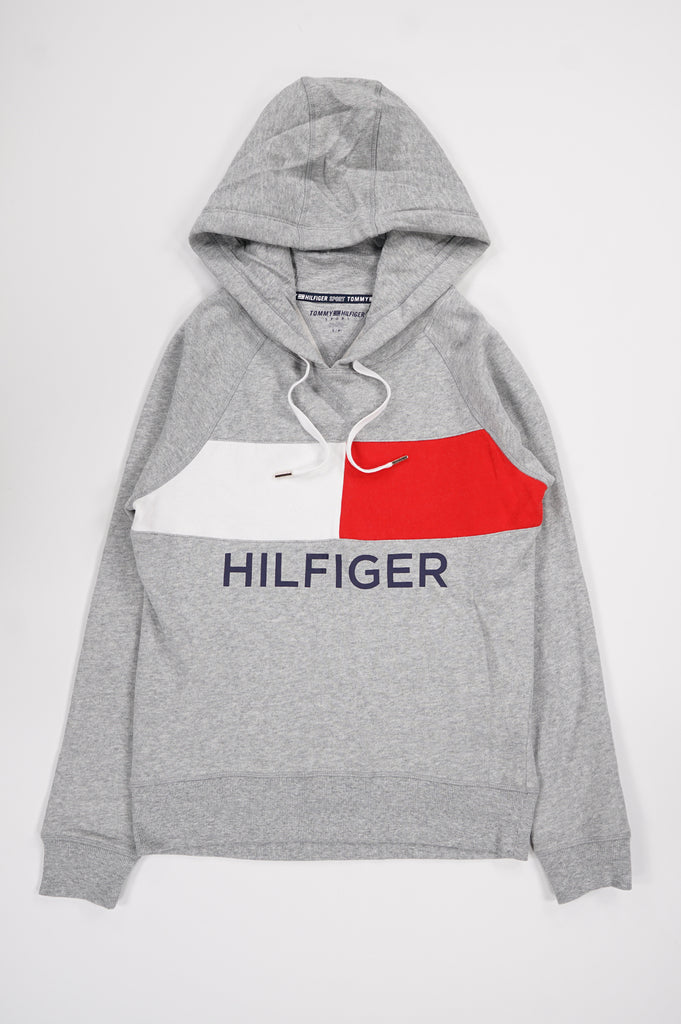 Tommy Hilfiger Activewear Women Hi-Low Hem Flag Block Hoodie