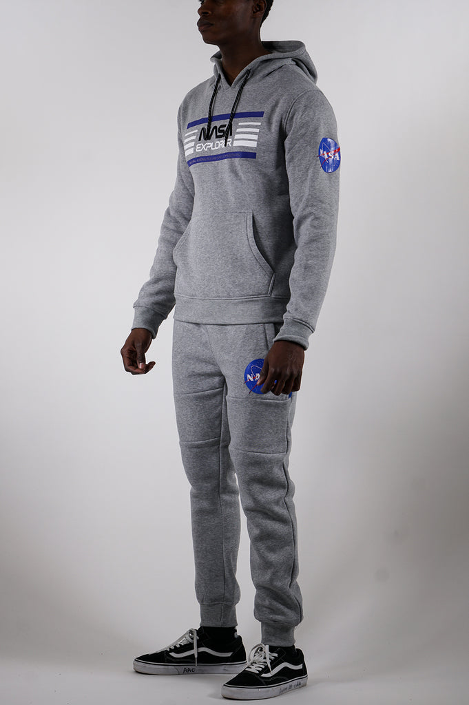 Aao Fashion Men Nasa Pullover Fleece Hoodie