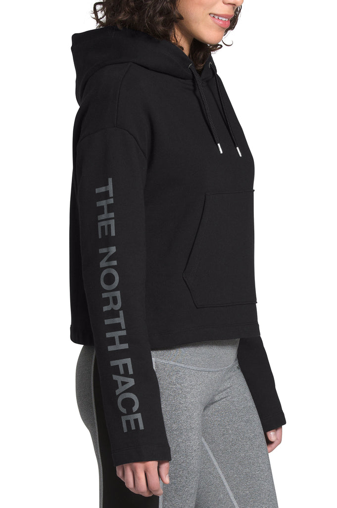 North Face Women L/S Tf Logo Crop Pullover Hoodie