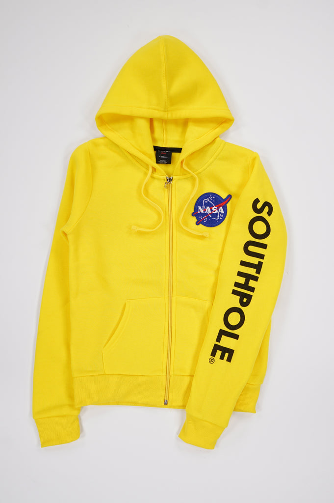 Southpole Women Nasa Full Zip Fleece Hoodie