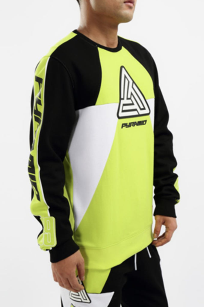 Black Pyramid Men BMX Moto Crewneck