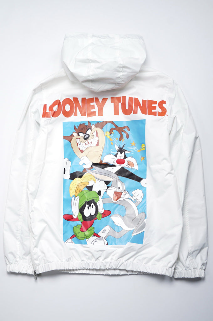 Members Only Men Looney Tunes  Print Anorak Jacket