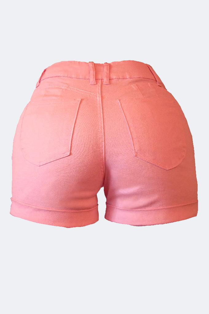 Aao Fashion Women Color Stretch Twill Short