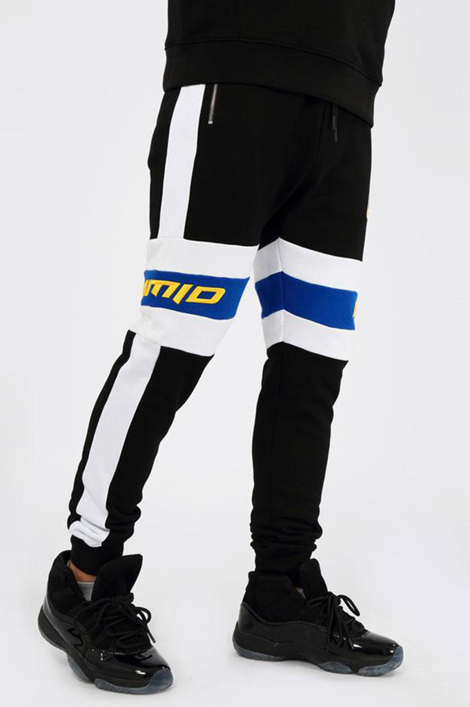 Black Pyramid Men Center Stripe Sweatpants