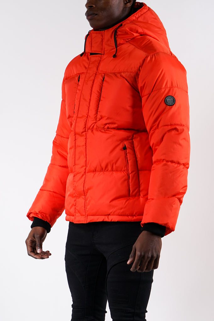 Southpole Men Solid Bubble Jacket
