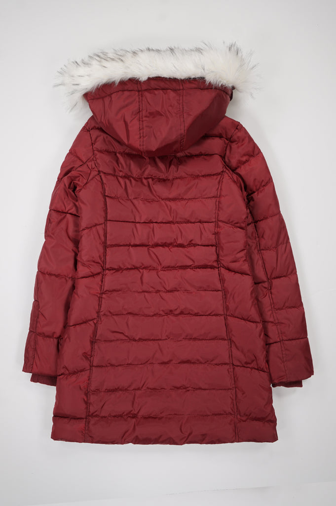 Southpole Women Long Length Jacket W/Fur Hood