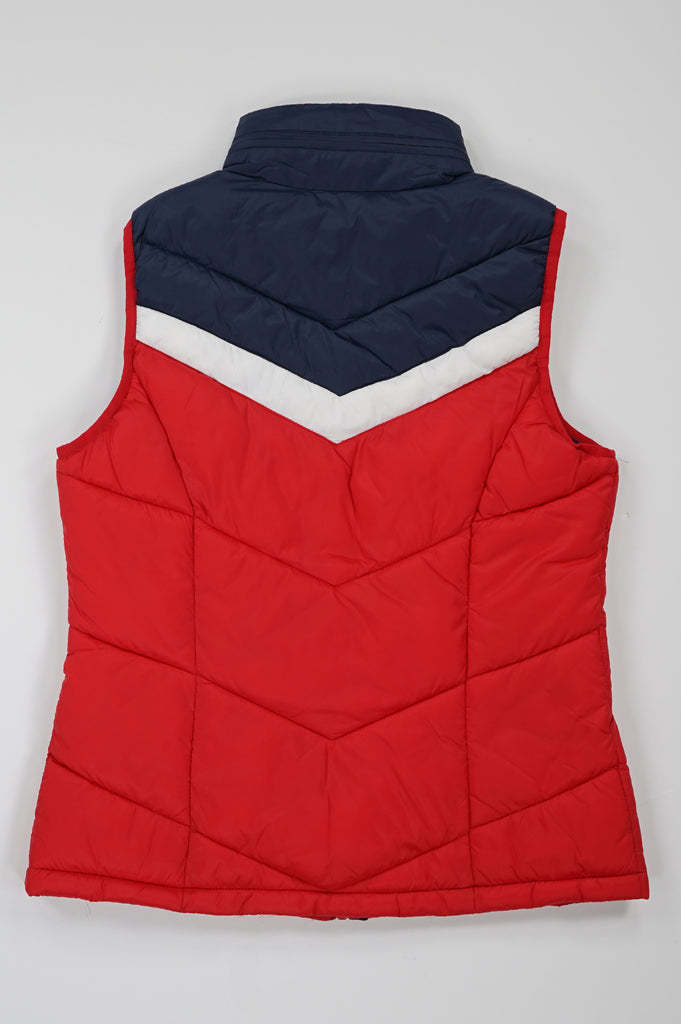 Tommy Hilfiger Activewear Women Varsity Chevron Blocked Vest