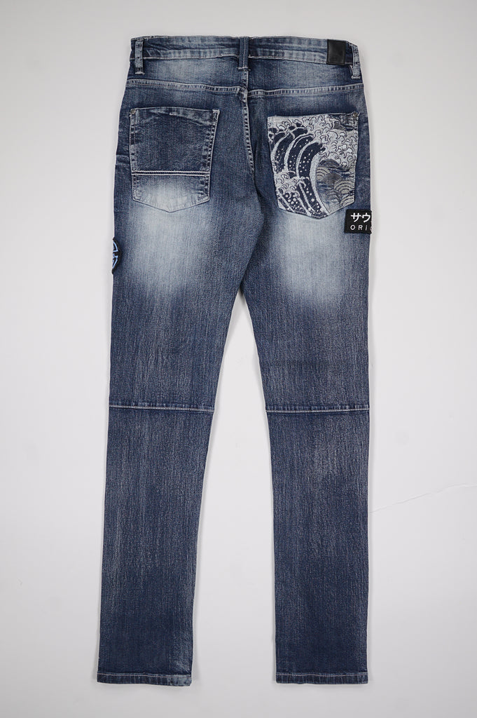Southpole Men Applique Fashion Denim