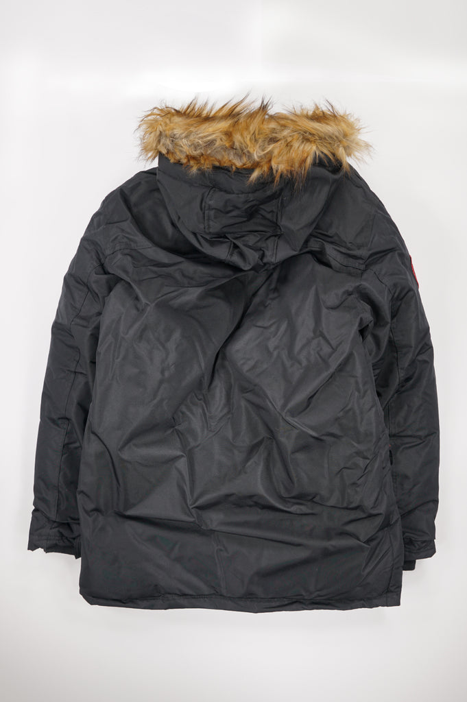 Aao Fashion Men Parka Jacket With Fur Hood