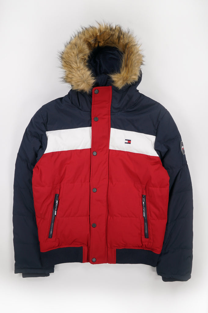 Tommy Hilfiger Outerwear Men Arctic Cloth Snorkle Hoody Puffer Jacket