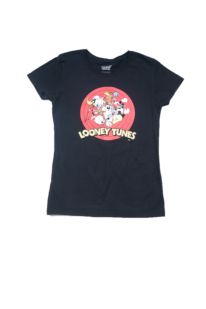 Aao Fashion Women Looney Toon Multi Character S/S Tee