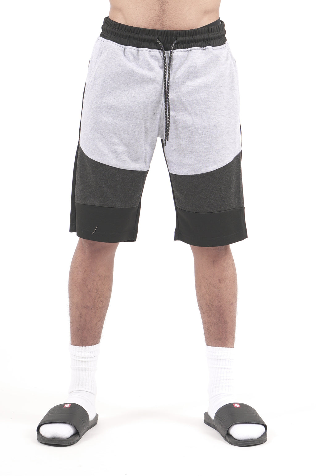 Southpole Men Color Block Tech Fleece Shorts