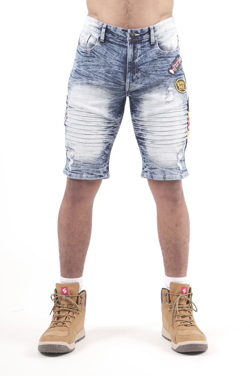 Southpole X Tootsie Men Patch Denim Shorts