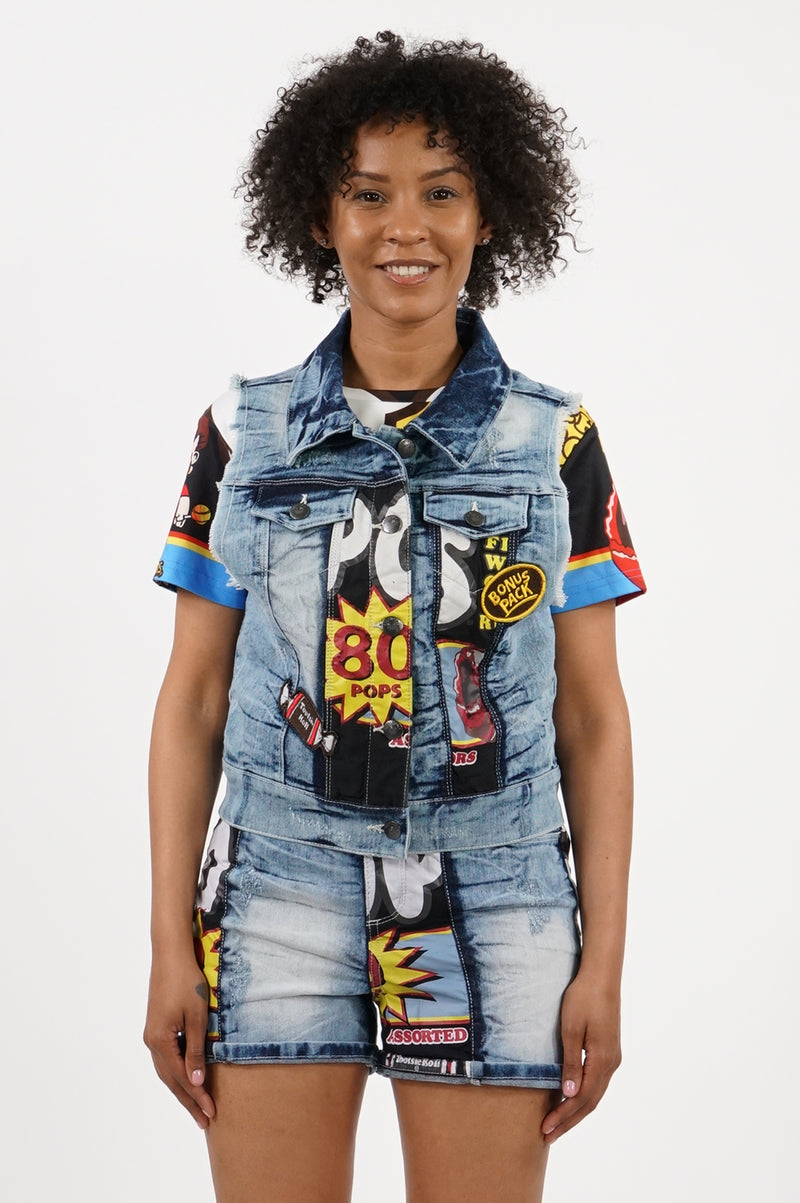Southpole X Tootsie Women Cropped Denim Jacket
