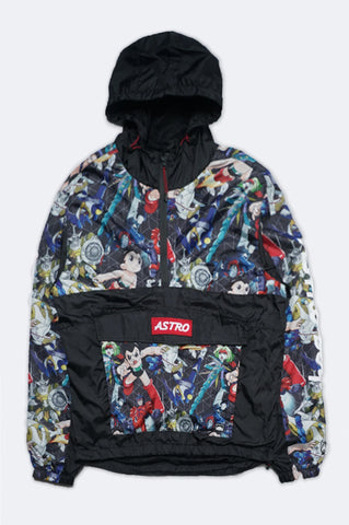 Southpole Men Astro Boy Allover Print Windbreaker Jacket
