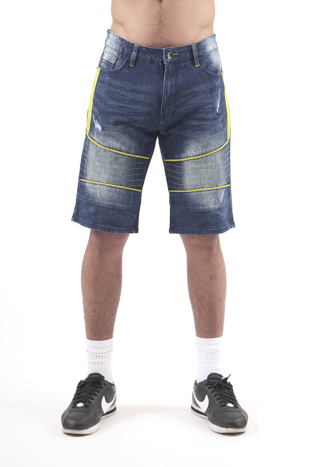 Southpole Men Color Piped Biker Shorts