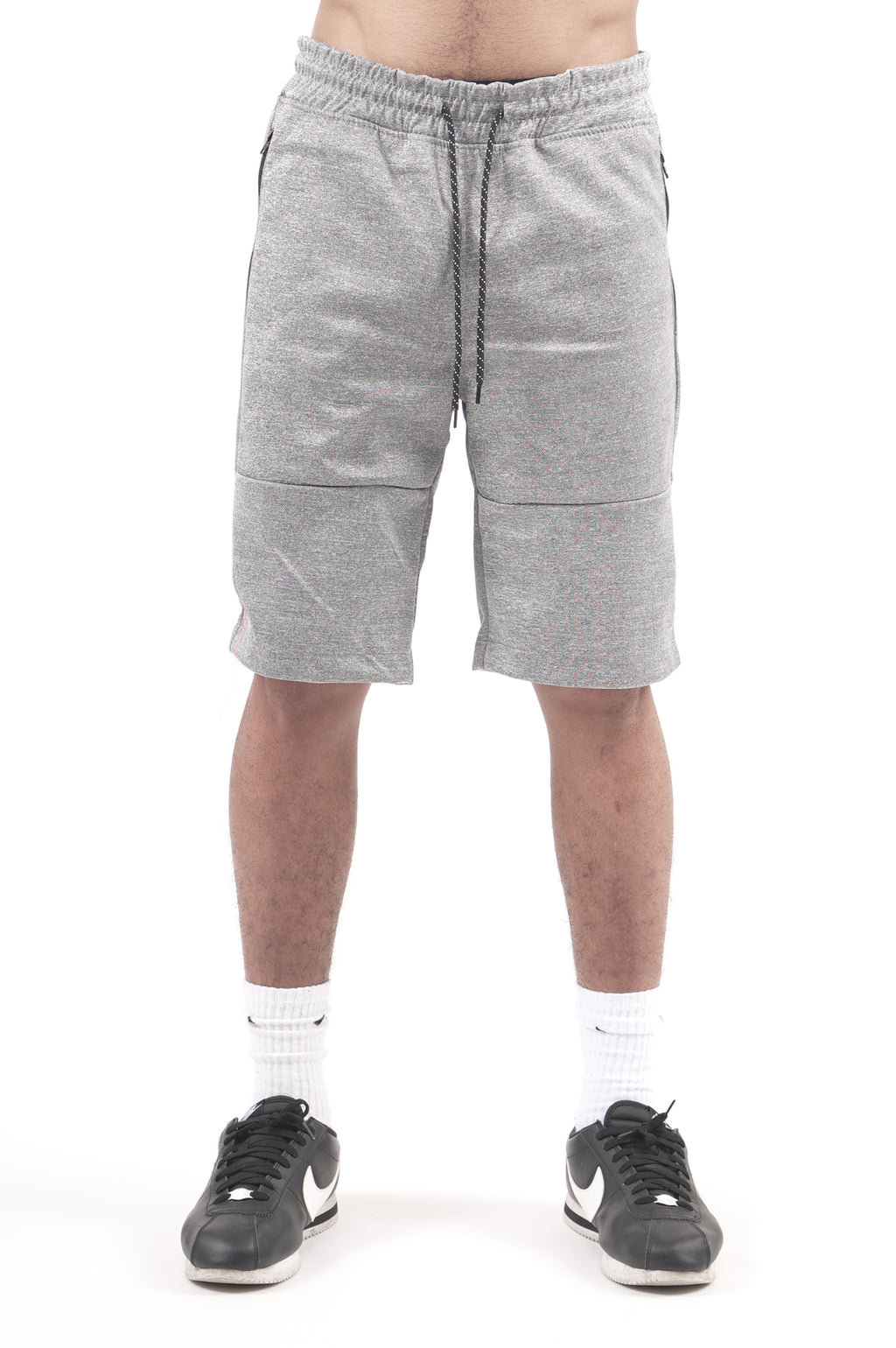 Southpole Men Zipper Pocket Marled Tech Shorts