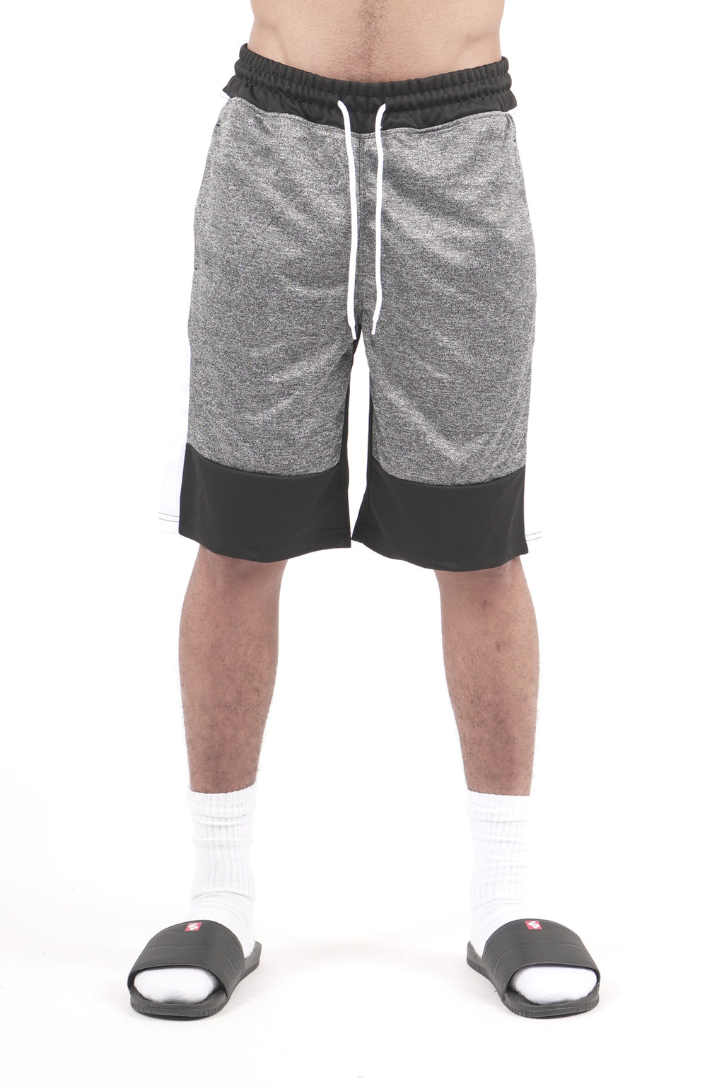 Southpole Men Color Block Marled Track Shorts