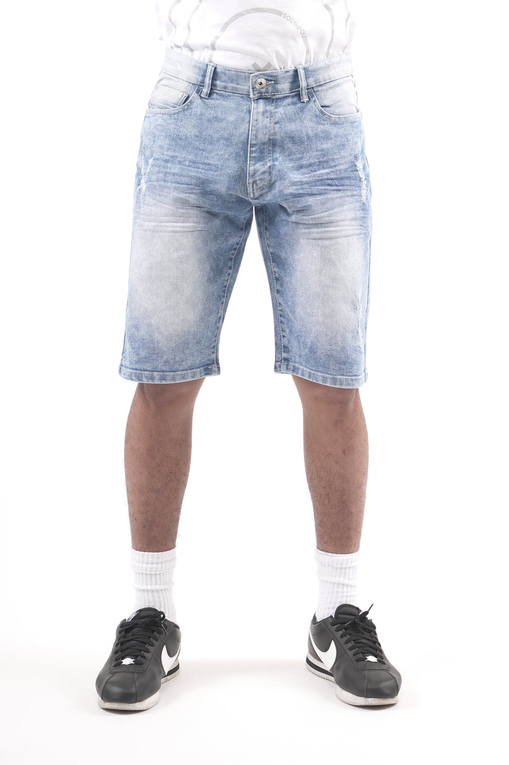 Southpole Men Stretch Denim Shorts