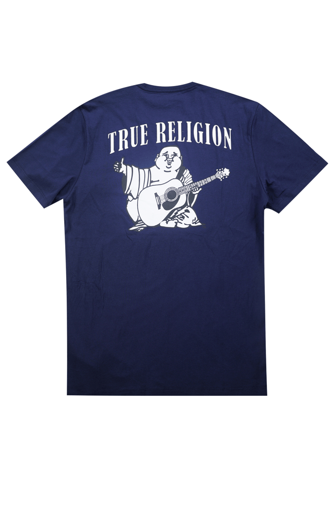 True Religion Men Buddha Logo Crew Neck Tee
