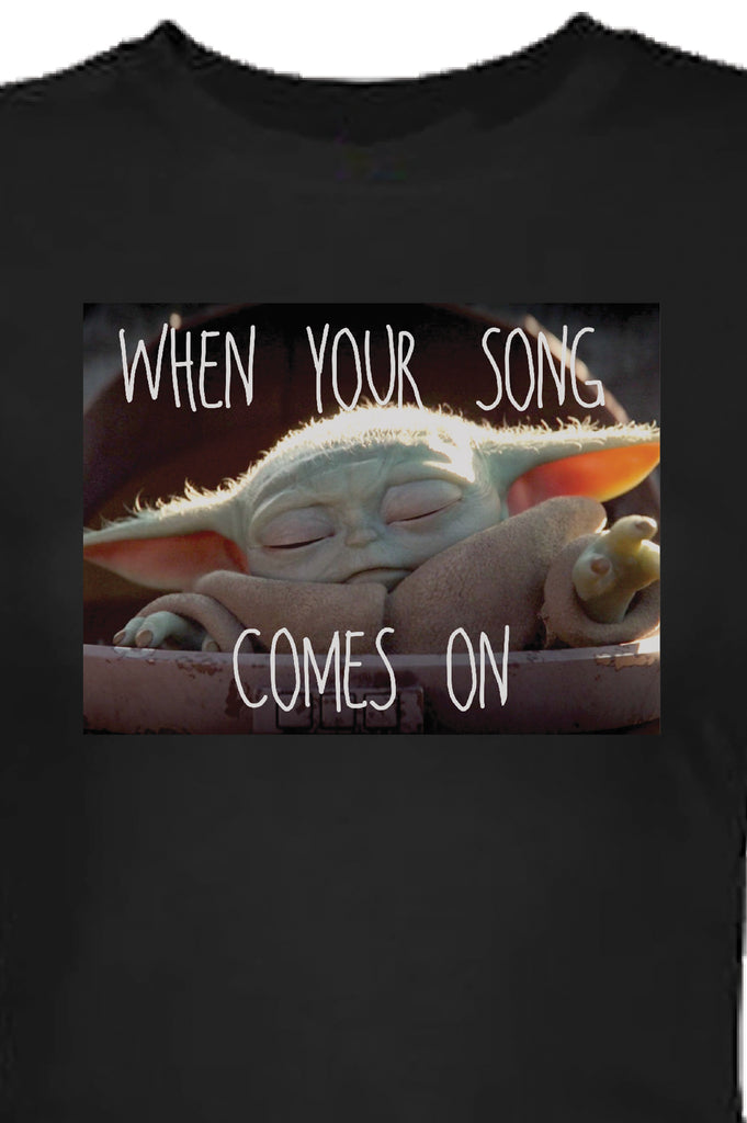 Aao Fashion Women Baby Yoda Jam Graphic Tee