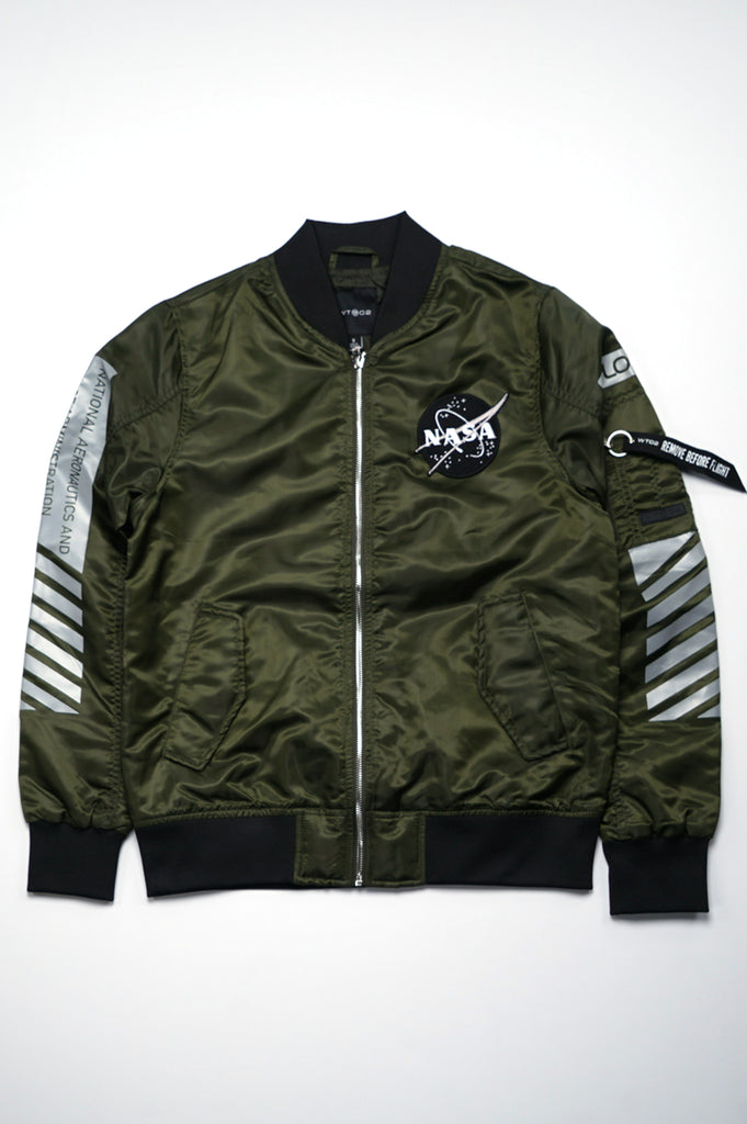 Aao Fashion Men Nasa Unpadded Bomber Jacket
