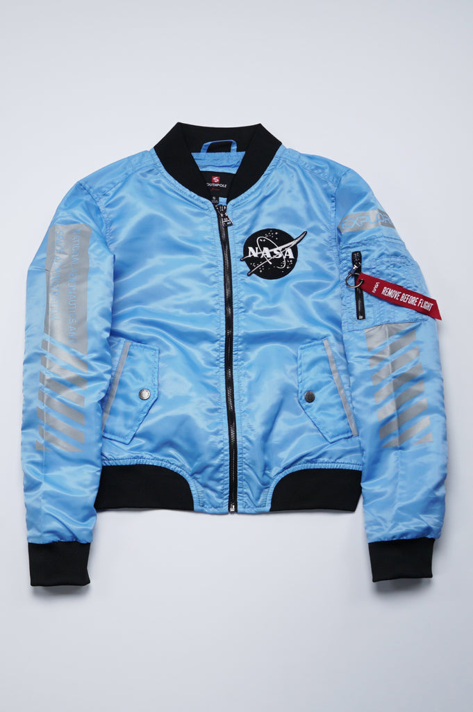 Southpole Women Nasa Reflective Print Ma1 Jacket