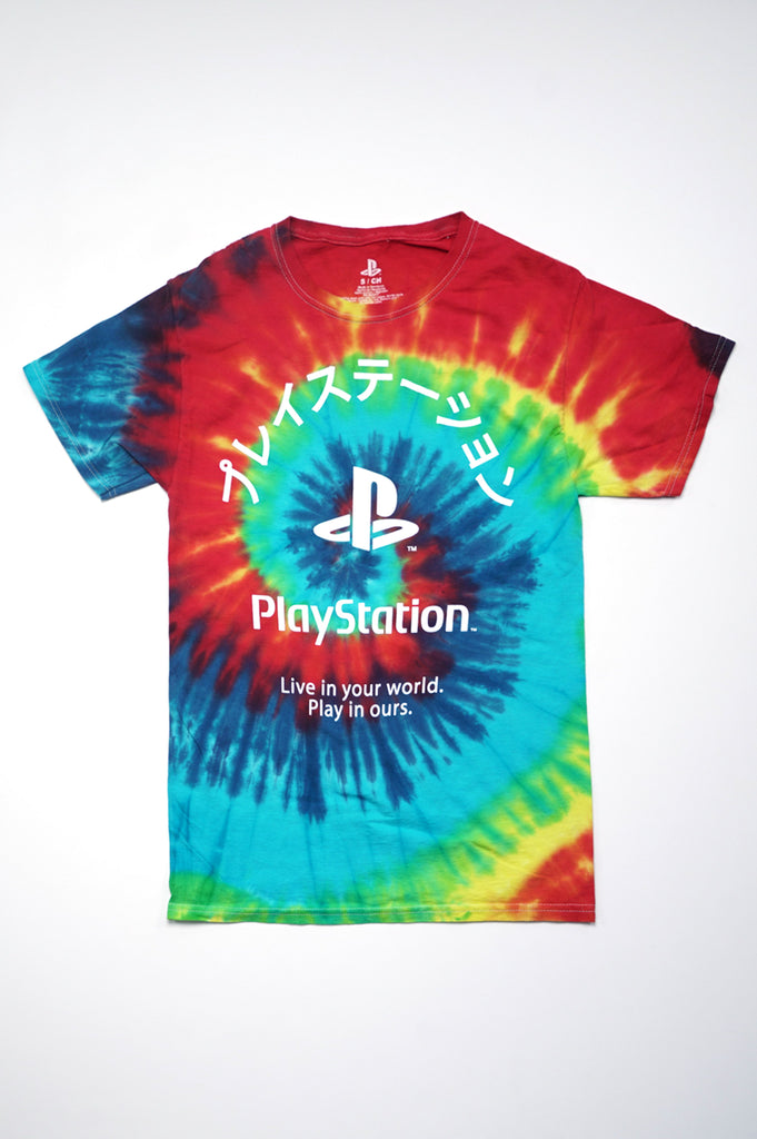 Aao Fashion Women Play Station Tie Dye Graphic Tee