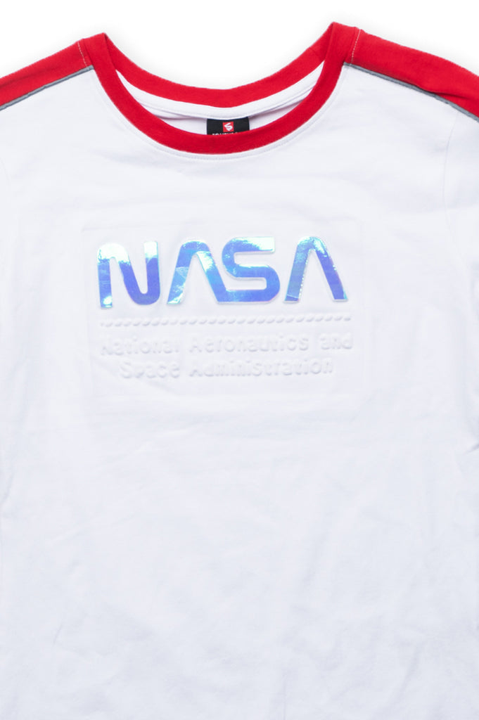 Southpole Women Nasa Logo Embossed Logo T-Shirt