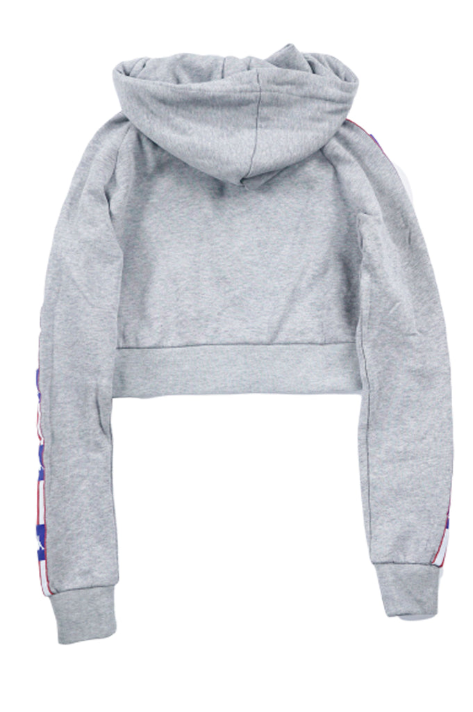 Kappa Women Authentic La Berry Cropped Hooded Sweatshirt