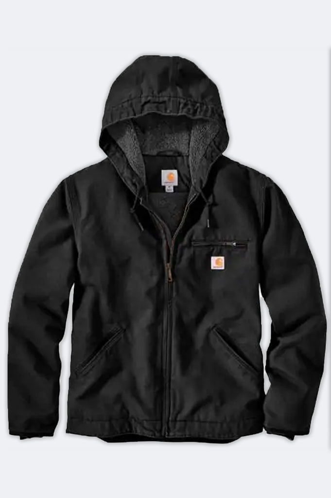 Carhartt Men Washed Duck Sherpa Lined Jacket