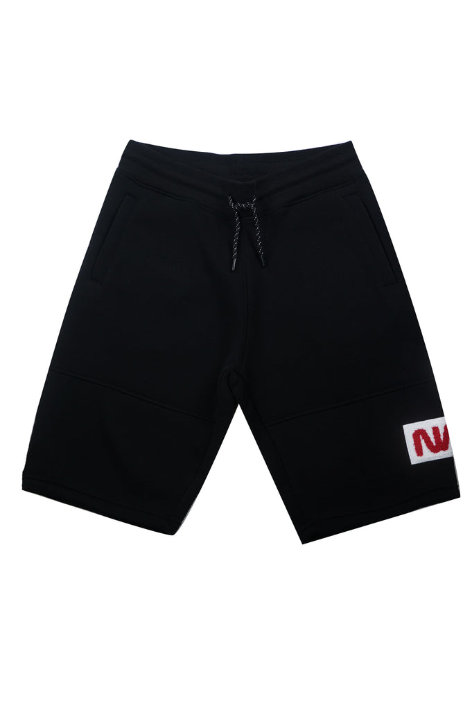 Aao Fashion Men Nasa Logo Fleece Shorts