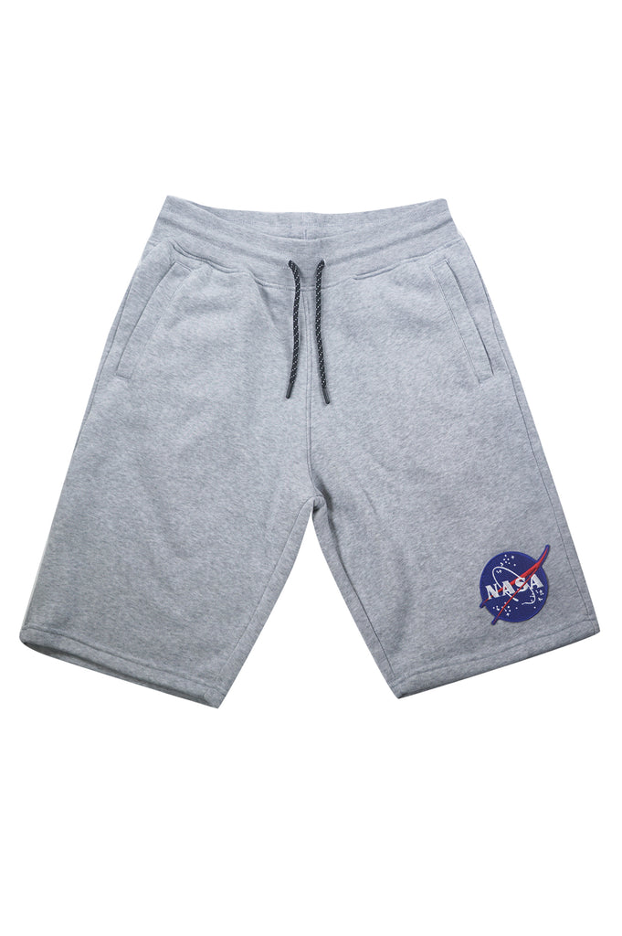 Aao Fashion Men Nasa Chenillel Patch Fleece Shorts