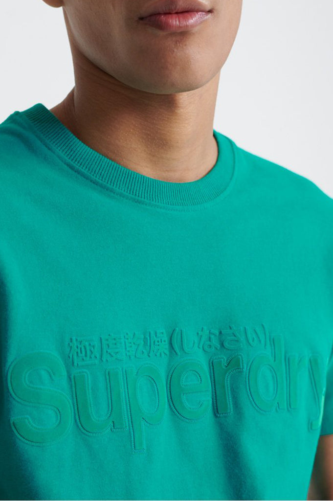 Superdry Men CORE FAUX SUEDE TEE