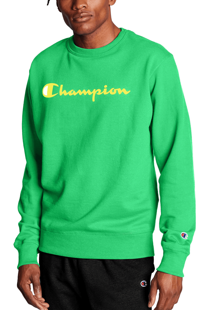 Champion Men Graphic Powerblend Fleece Crew
