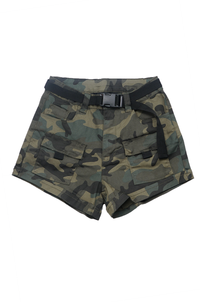 Southpole Women Twill Shorts W/Cargo Detail
