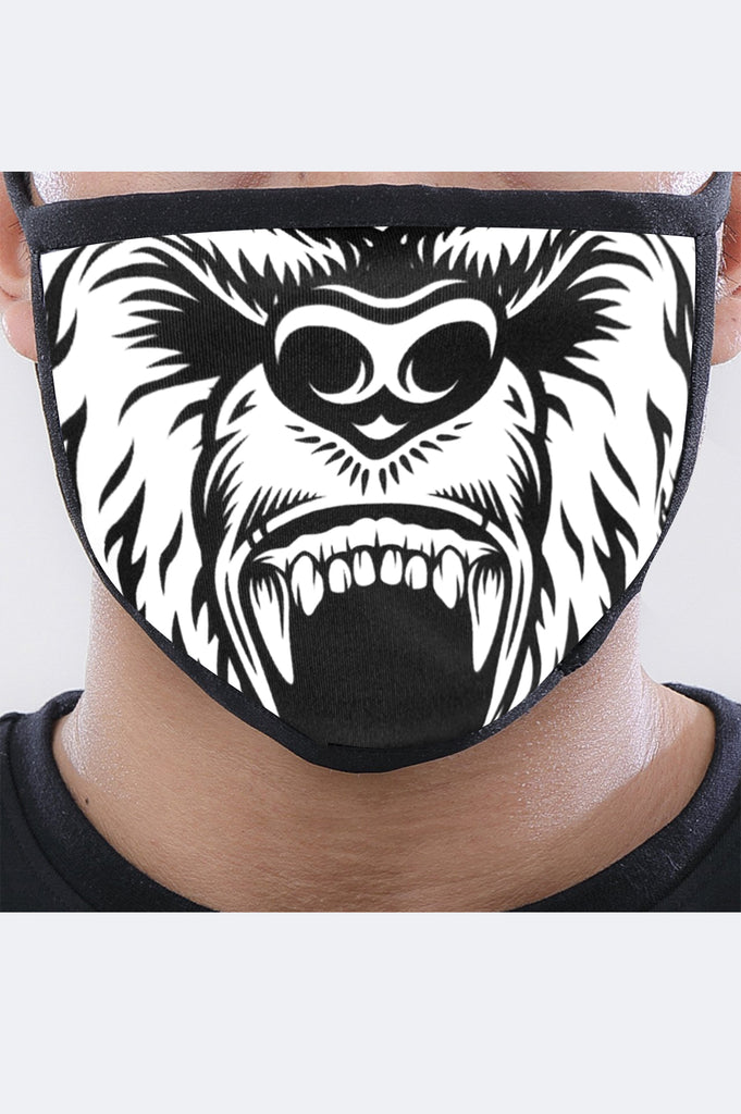 Aao Fashion Acc Grizzly Face Mask