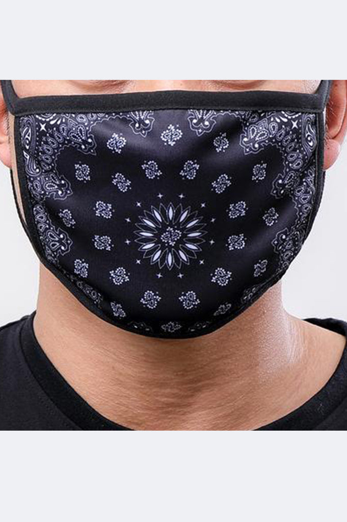 Hudson Acc Solid Paisley Face Mask