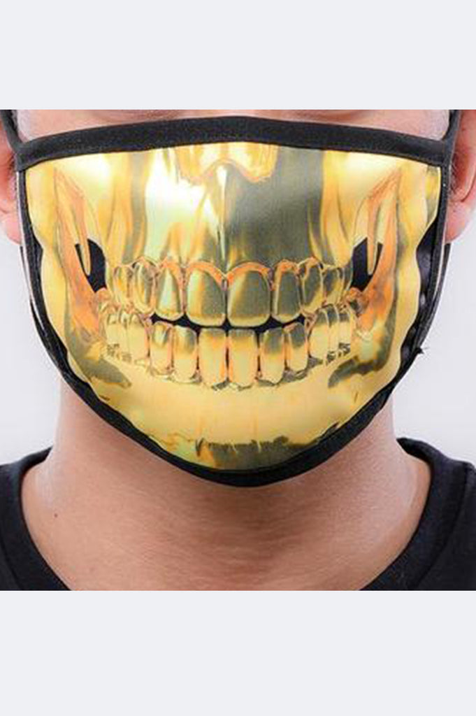 Hudson Acc Gold Teeth Face Mask