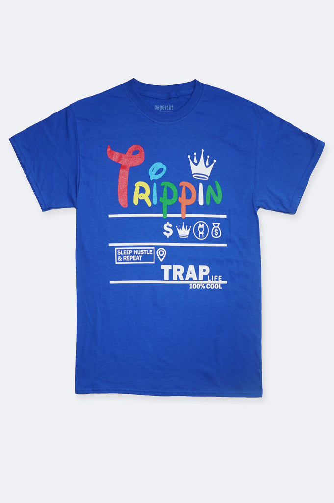Aao Fashion Men Verbiage Trippin Trap Graphic Tee