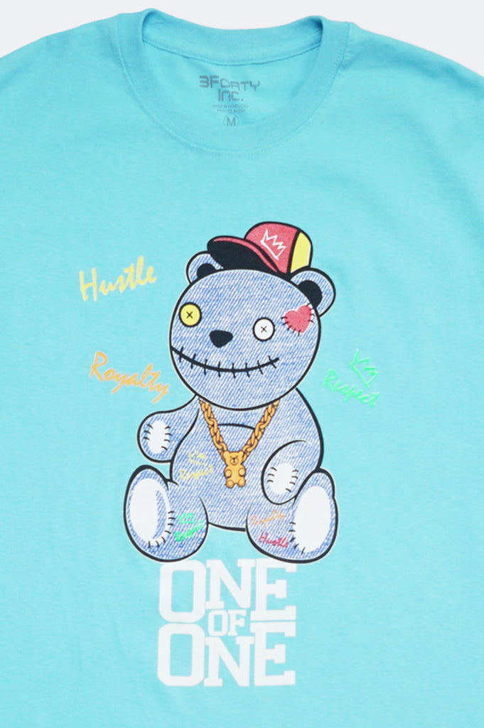 Aao Fashion Men Verbiage One Of One Bear Graphic Tee