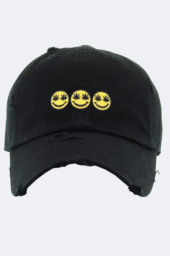 Aao Fashion Acc Dad Hat Triple Mj Simley